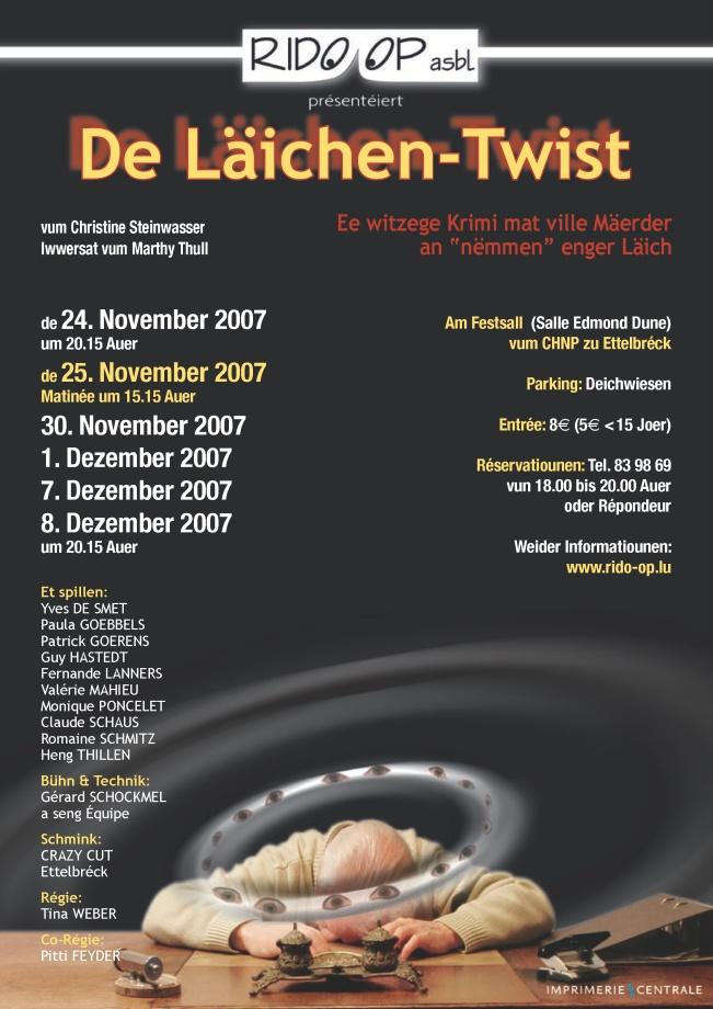 Plakat Läichen Twist