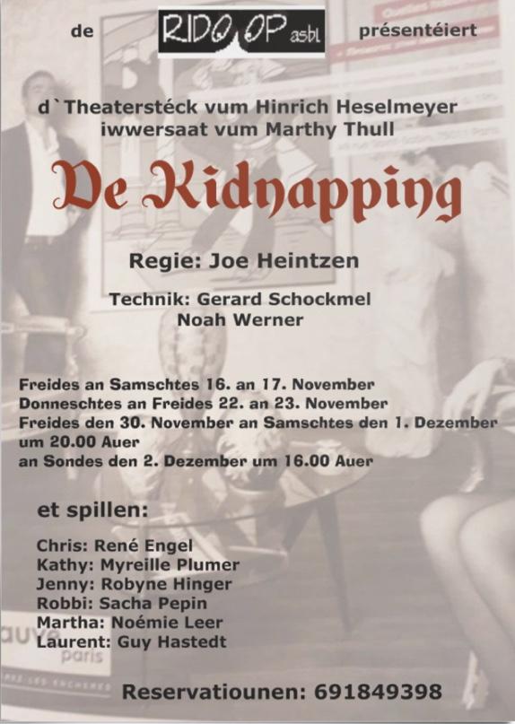 Plakat De Kidnapping