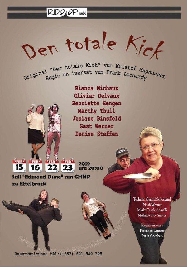 Plakat Den totale Kick